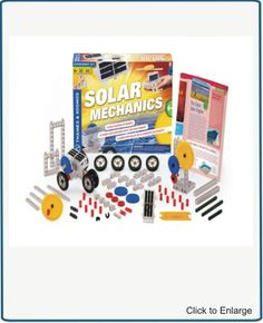Solar Mechanics    Power Your Machines with the Sun's Energy  Build more than 20 solar-powered models to learn about how solar cells convert energy from sunlight into mechanical energy. Conduct experiments with the solar cell to see how different placement angles, different light levels, different sources of light, and different loads affect its operation. Learn about solar power in a fun, hands-on way.