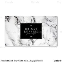 Modern Black & Gray Marble Jewelry Designer Pack Of Standard Business Cards Mais Brand Identity Design, Branding Design, Logo Design, Design Cars, Marble Jewelry, Silver Jewelry, Logos, Name Card Design, Hairstylist Business Cards