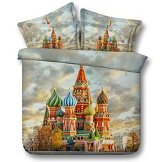 Europe Style Fairytale Dream Castle Duvet Cover Kids/Adult Bedding Set 3/4PC Twin/King/Queen/Super King Size Home Textiles Decor //Price: $45.23 & FREE Shipping //     #hashtag4