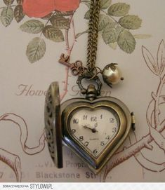 """What a treasure, vintage, """"heart"""" time piece, love, beautiful patina~❥"""