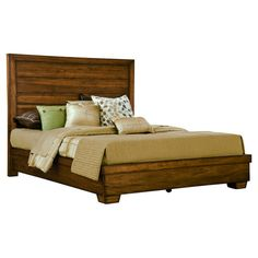 A perfect addition to your master suite or guest room, this handsome bed features a kiln-dried wood frame and streamlined silhouette.