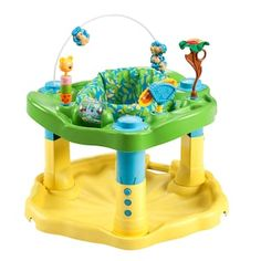 The Evenflo ExerSaucer Zoo Friends offers parents a safe alternative to walkers. With a variety of age appropriate toys that help your baby achieve important developmental milestones. With rock spin . Activity Centers, Learning Centers, Learning Activities, Play Activity, Learning Toys, Baby Play, Baby Toys, Cyber Monday, Baby Exersaucer