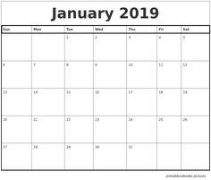 10 best january 2019 printable calendar images. Black Bedroom Furniture Sets. Home Design Ideas
