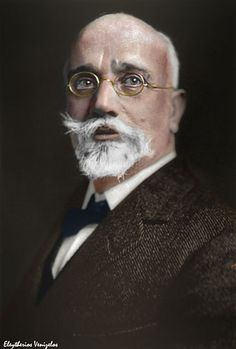 Eleftherios Venizelos - was an eminent Greek leader of the Greek national liberation movement and a charismatic statesman of the early century remembered for his promotion of liberal-democratic policies Spanish Men, Liberal Party, Greek History, Greek Culture, Crete Greece, Makes You Beautiful, Ancient Rome, Anthropology, Historical Photos