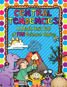 Central Tendencies Unit: mean, median, mode, range, and outlier! 48 pages!