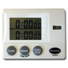 Dual timer with 23 hours 59 minutes 59 seconds countdown and count up facility and memory function.