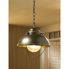 YOU HAVE A CHOICE BETWEEN THESE COLORS Antique Bronze, Weathered Copper Cabela's Grand River Lodge Fisherman's Pendant Light Bring the feel of a maritime port into any room of your home or cabin with