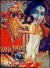 Ramakrishna pooja to Kali Maa Mother Kali, Divine Mother, Kali Hindu, Hindu Art, Goddess Of Destruction, Shiva Shakti, Shiva Art, Krishna Art, Krishna Images
