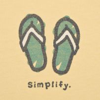 Simplify Flip Flops @ http://www.lifeisgood.com/shop/women/womens-shirts-life-is-good-tees/womens-tops,default,sc.html