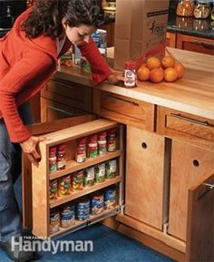 Build Organized Lower Cabinet Rollouts for Increased Kitchen Storage - Step by Step   The Family Handyman