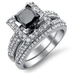 There is nothing more unique and beautiful than a black diamond. You don't see too many women with black diamonds on their wedding rings.