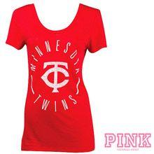 Minnesota Twins Victoria's Secret PINK® Double Scoopneck T-Shirt
