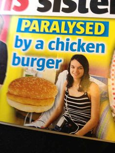 Chicken burgers are the biggest threat facing our great nation. | The 33 Most Important Lessons We Learned In 2013