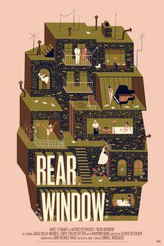 Rear Window Movie Poster by Adam Simpson Mondo Release Details
