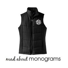 d10ed5c87a6 Items similar to Monogrammed Puffy Vest