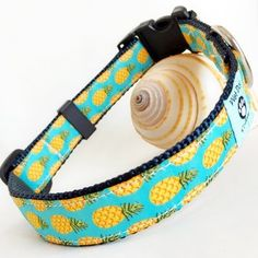 Safe Voyage Pineapple Dog Collar