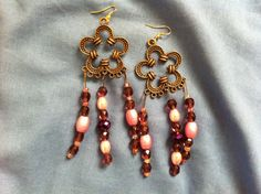 Antique Bronze Earrings/Unique Earrings by QuiltsFor11Q on Etsy, $8.50