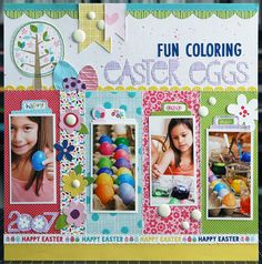 Fun+Coloring+Easter+Eggs+*Bella+Blvd* - Scrapbook.com