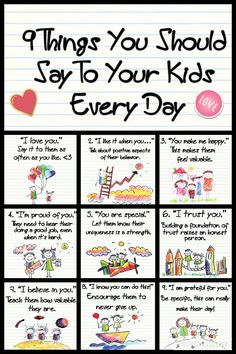 9 things to say to your kids