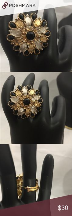 NWOT Indian Bollywood ring NWOT Indian Bollywood Kundun ring . It is adjustable size ring . Jewelry Rings