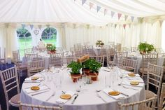 Marquee Wedding - natural themed, rustic with bunting