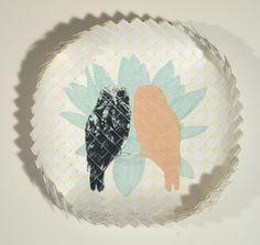 Vanessa Edwards, Manu aria (birds of manifestation), drypoint & woven kete on 250 x 250 mm paper, 1 of 1, 2013. NZ$350 incl GST. Maori Art, Kiwiana, Mixed Media Artwork, Abstract Portrait, Plexus Products, Art School, Printmaking, Paper Art, Art Gallery