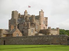 The Castle of Mey (formerly Barrogill Castle) is located in Caithness, on the north coast of Scotland, about 6 miles (9.7 km) west of John o' Groats.
