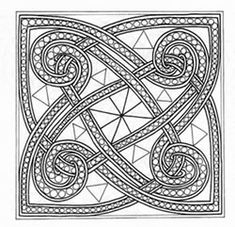 celtic cross, plus other Celtic patterns to color or use as a string