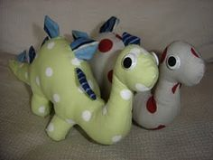 Plush Dinosaur with Sewing Pattern - great idea for the little boys in my life