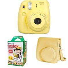 Fujifilm Instax Mini 8 (Yellow) + Instax Mini Twin Pack F...