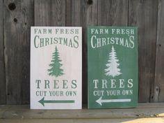 Christmas Tree Farm Christmas Winter Wood Sign by wallsandwords