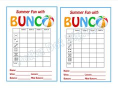 free printable bunco score sheets only feel free to print it out