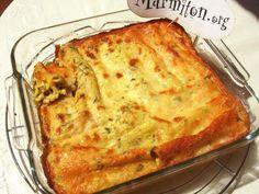 Cannelloni aux courgettes, basilic et chèvre frais