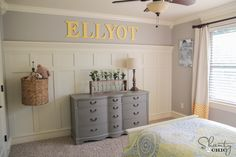 First, let's talk about how simple this project is…. We literally used just a couple boards and a piece of trim, and the rest of the wall is made with ...