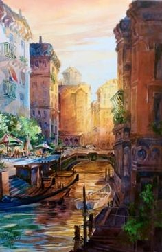 Venice watercolor by Tom Lynch