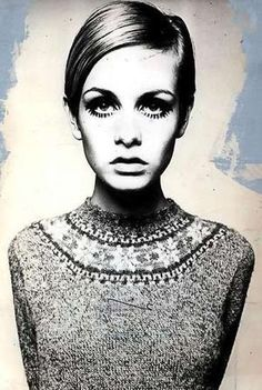 """Lesley Lawson aka Twiggy. The epitome of Mod Fashion and  the """"It Girl"""" model of the mid 1960's."""
