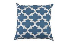 Accent Pillow-Santoro Blue Geo 22X22 - Signature
