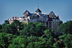 Eureka Springs 1886 Crecsent Hotel  Hilltop view of the famed Crescent Hotel. #Arkansas
