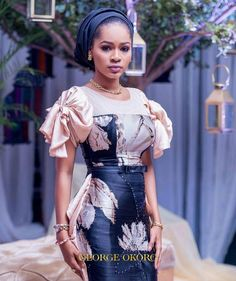 The way the Hausas spice up their Ankara outfits in a sophisticated way cannot be overlooked! They always make Ankara worth wearing for any occasion and event. The fun part… African Lace Dresses, African Dresses For Women, African Attire, African Wear, African Outfits, African Style, African Beauty, African Clothes, African Fashion Ankara