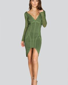 Leliani High Low Bandage Dress