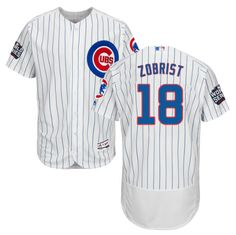Majestic Men s 2016 World Series Authentic Chicago Cubs Ben Zobrist  18  Flex Base Home White On-Field Jersey c0b57b987