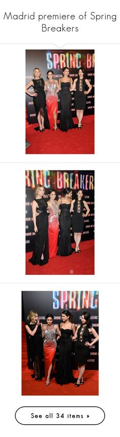 """""""Madrid premiere of Spring Breakers"""" by barefootcinderella-1 ❤ liked on Polyvore featuring selena gomez, selena and celebs"""