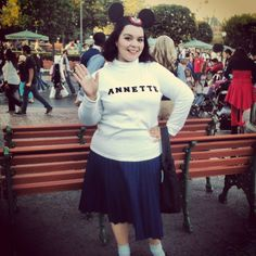 Halloween at Disneyland, Mouseketeer/Annette Funicello costume.