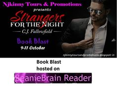 "#BookBlast + #Giveaway #StrangersForTheNight by @CJFallowfield on @SajMerrick's blog http://beaniebrainreader.blogspot.in/2014/10/strangers-for-night.html  Also Enter the #Giveaway to win $10 Amazon GC, 1 Ebk of ""The Austin Series #1""  #EroticRomance #AdultRomance #BlogTour"