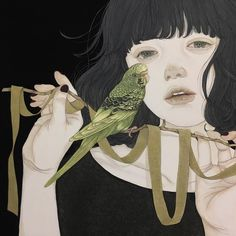 Art by Yuka Sakuma Art And Illustration, Japanese Illustration, First Art, Pretty Art, Cute Art, Wow Art, Japanese Painting, Japan Art, Art Plastique