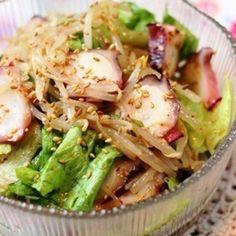 タコともやしのナムルサラダ Seafood Recipes, Gourmet Recipes, Cooking Recipes, Healthy Recipes, Japanese Dishes, Japanese Food, Dairy Free Recipes, Asian Recipes, Food Inspiration