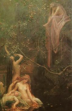Nymphs. There are five types- celestial, water, land, plant, and underworld- and thought of as elemental spirits who animate nature.
