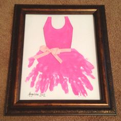 We made this for Lina's ballet teacher :)