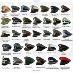 Hats of the Nazi Reich.