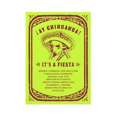Mexican Party Invitations by UniqueInvites